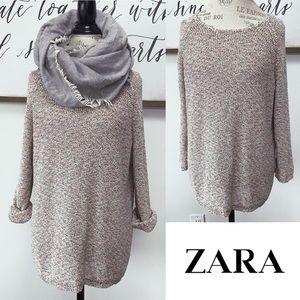 ZARA TRF Rainbow Marl Sweater
